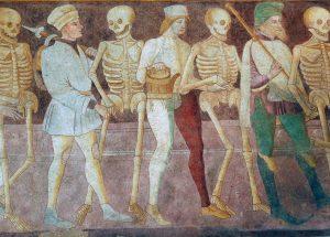 Giacomo Borlone de Buschis, Danza Macabra, 1484-1485,Oratorio dei Disciplini, Clusone