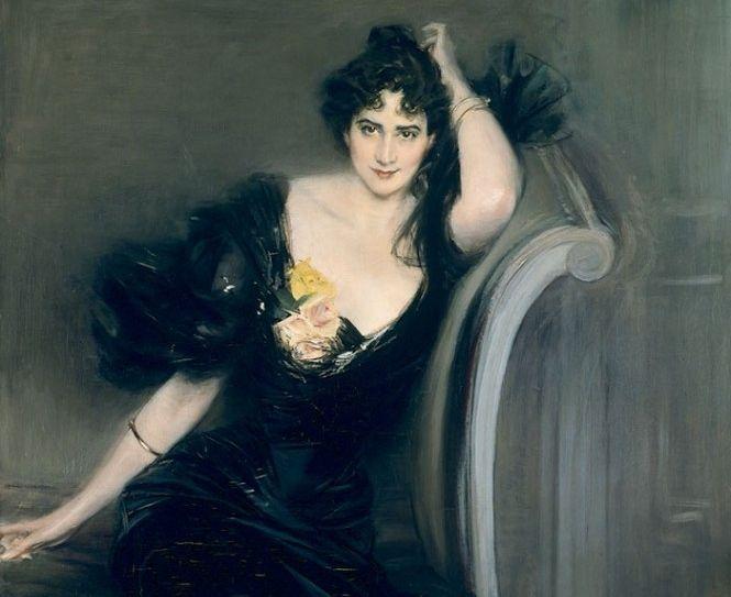 Giovanni Boldini, Ritratto di Lady Colin Campbell, dettaglio,1894