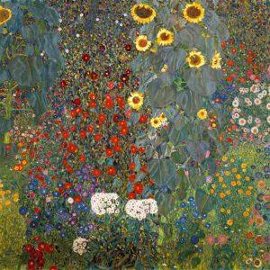 Gustav Klimt, Giardino di campagna con girasoli, 1905-1906