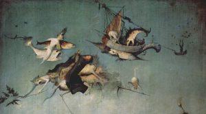 Hieronymus Bosch, Trittico de Le tentazioni di San'Antonio, dettaglio, 1501 circa