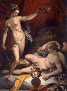 Jacopo Zucchi, Psiche scopre Amore, 1589