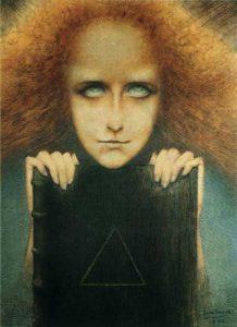 Jean Delville, Mysteriosa o Il ritratto della signora Merrill, 1892