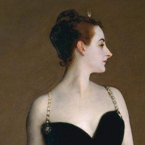 John Singer Sargent, Ritratto di Madame X, dettaglio 1883-1884