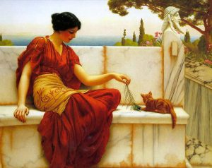 John William Godward, La favorita, 1901