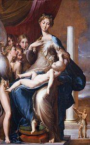 Parmigianino, Madonna dal collo lungo, 1534-1540