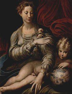 Parmigianino, Madonna della Rosa, 1530