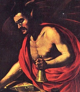 Rutilio Manetti, Sant'Antonio Abate tentato dal demonio, dettaglio, 1630
