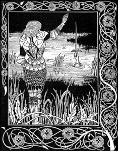 Aubrey Beardsley, Illustrazione per La morte di Artù, 1893-1894