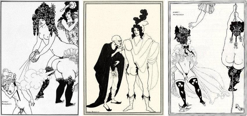 Aubrey Beardsley, Illustrazioni per Lisistrata, 1896