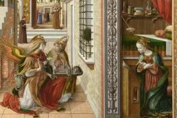 Carlo Crivelli, Annuncizione con sant'Emidio, dettaglio, 1486