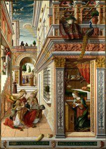 Carlo Crivelli, Annuncizione con sant'Emidio, 1486