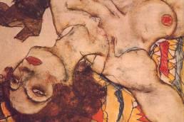 Egon Schiele, Nudo rovesciato, 1915