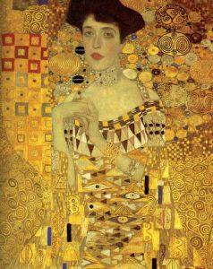 Gustav Klimt, Ritratto di Adele Bloch-Bauer I, dettaglio, 1907