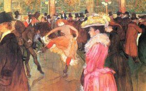Henri de Toulouse-Lautrec, Addestramento delle nuove arrivate da parte di Valentin le Desossè, 1890