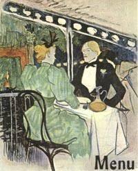 Henri de Toulouse-Lautrec, Menu