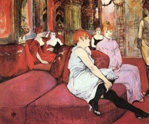 Henri de Toulouse-Lautrec, Nella sala di rue des Moulins, 1894-1895