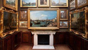 Sir John Soane's Museum, interno con la stanza dei quadri