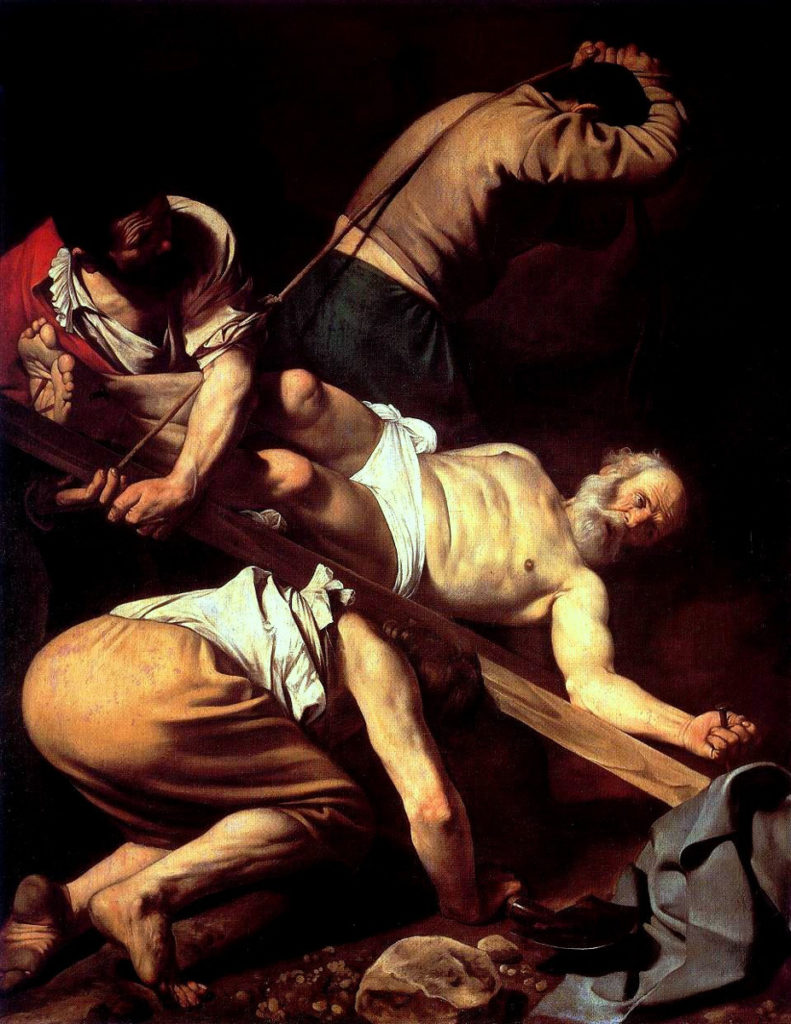 Caravaggio, Crocifissione di san Pietro, 1601