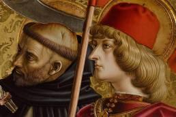 Carlo Crivelli, Trittico di san Domenico, dettaglio di san Pietro e san Venanzio, 1482