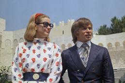 La principessa Grace di Monaco e Rudolf Nureyev al Palazzo Reale del Principato di Monaco nel 1968