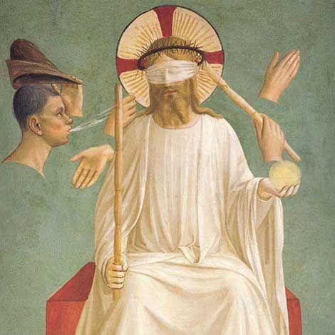 Beato Angelico, Cristo deriso, dettaglio, cella numero 7, 1438-1440
