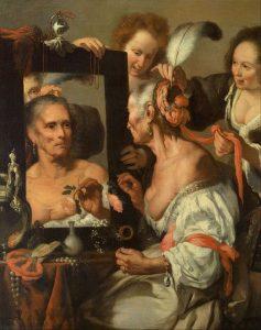 Bernardo Strozzi, Vanitas (La vecchia civetta), 1635