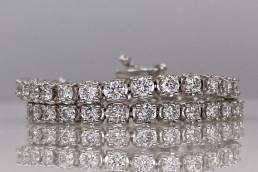 Bracciale Tennis in platino e diamanti