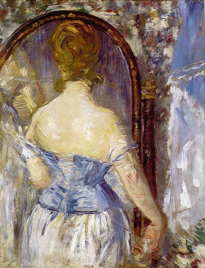 Édouard Manet, Donna davanti allo specchio, 1876