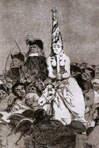 Francisco Goya, incisione della serie I capricci, 1799