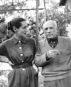 Françoise Gilot e Pablo Picasso, Vallauris, 1952