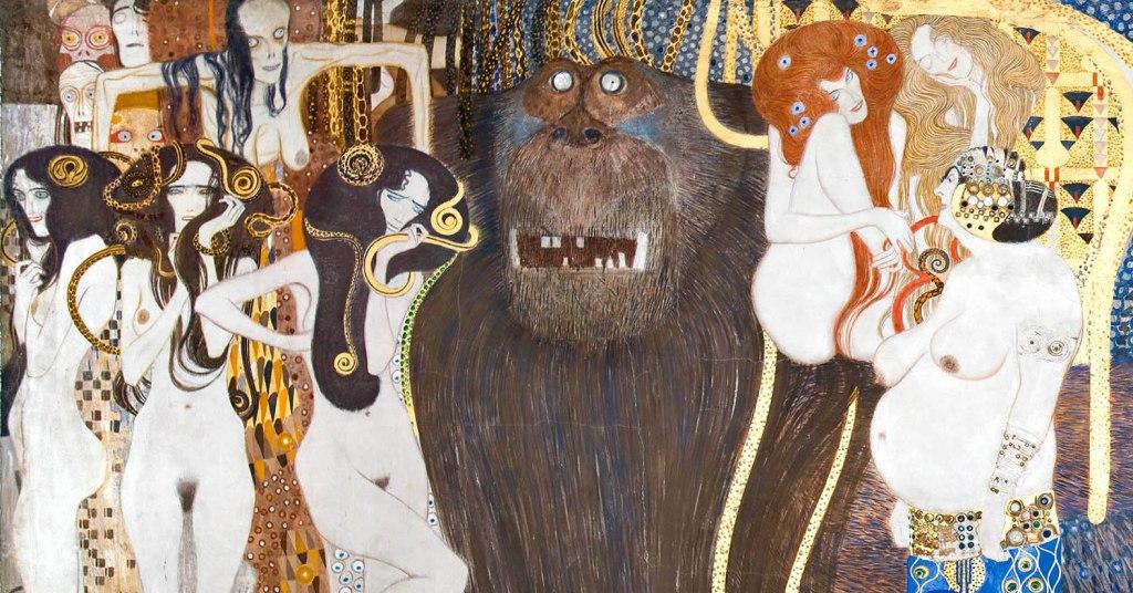Gustav Klimt, Fregio di Beethoven, L'ostilità delle forze avverse, 1902 - Vienna, Palazzo della Secessione