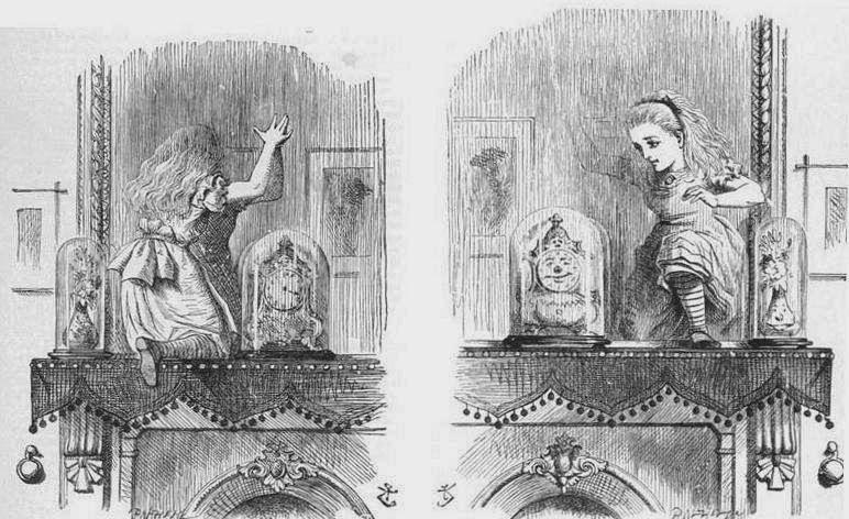 John Tenniel, illustrazione per Attraverso lo specchio e quel che Alice vi trovò, 1871
