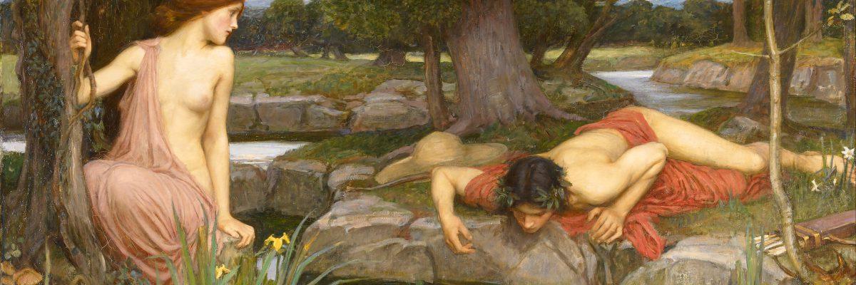 John William Waterhouse, Narciso ed Eco, dettaglio, 1903