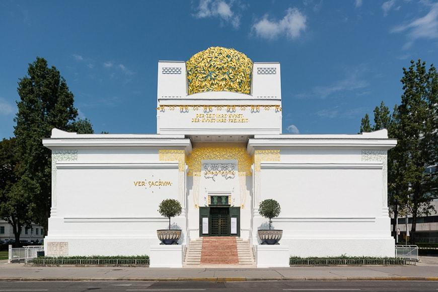 Joseph Olbrich, Palazzo della Secessione, facciata esterna