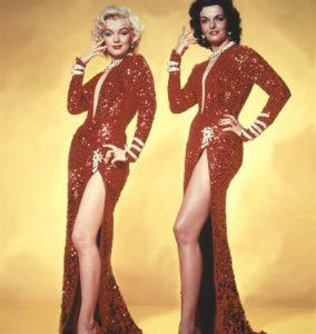 Marilyn Monroe e Jane Russell ne Gli uomini preferiscono le bionde, 1953