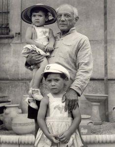 Pablo Picasso Claude e Paloma, i due figli avuti da Françoise Gilot, 1951