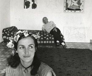 Robert Doisneau, Françoise Gilot e Pablo Picasso, Vallauris, 1952