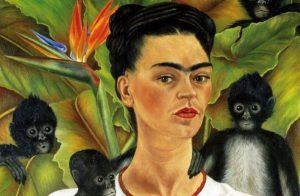 Frida Kahlo, Autoritratto, dettaglio