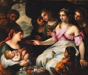 Elisabetta Sirani, Ritrovamento di Mosè, 1665