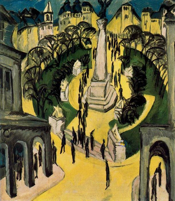 Ernst Ludwig Kirchner, Belle Alliance-Platz, 1914