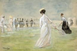 Max Liebermann , Partita di tennis in riva al mare, 1901