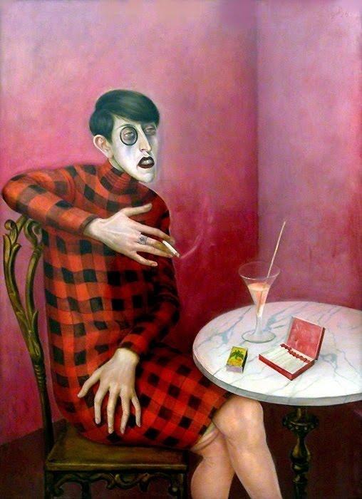 Otto Dix, Ritratto della giornalista Sylvia von Harden, 1928
