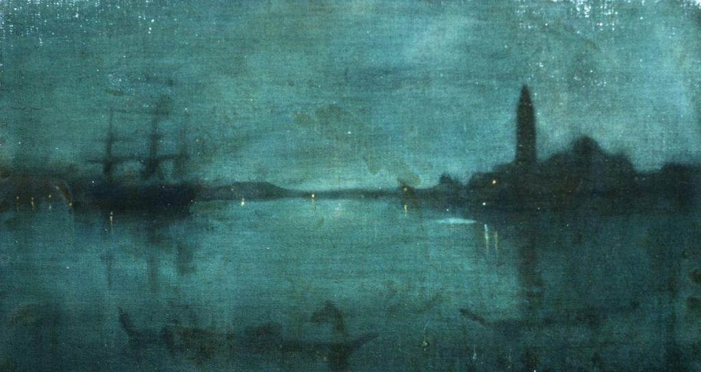 James Abbott McNeill Whistler, Notturno in blu e argento, la laguna di Venezia, 1879-1880