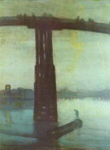 James Abbott McNeill Whistler, Notturno in blu e oro – Il vecchio ponte di Battersea, 1872-1875