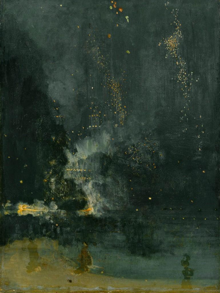 James Abbott McNeill Whistler, Notturno in nero e oro - Il razzo cadente, 1874