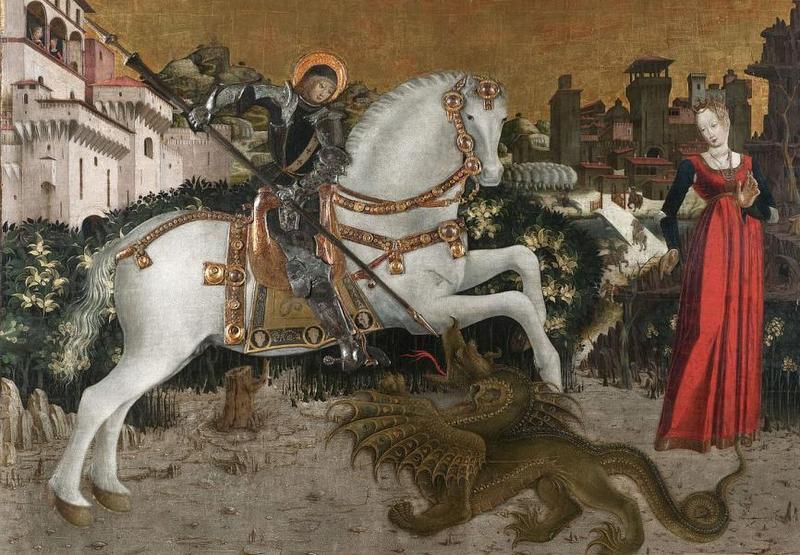 Anonimo bresciano, San Giorgio e il drago, 1460-1465