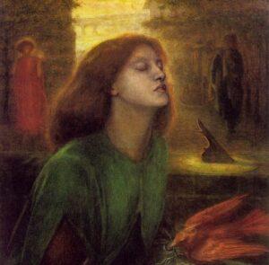 Dante Gabriel Rossetti, Beata Beatrix, dettaglio, 1864