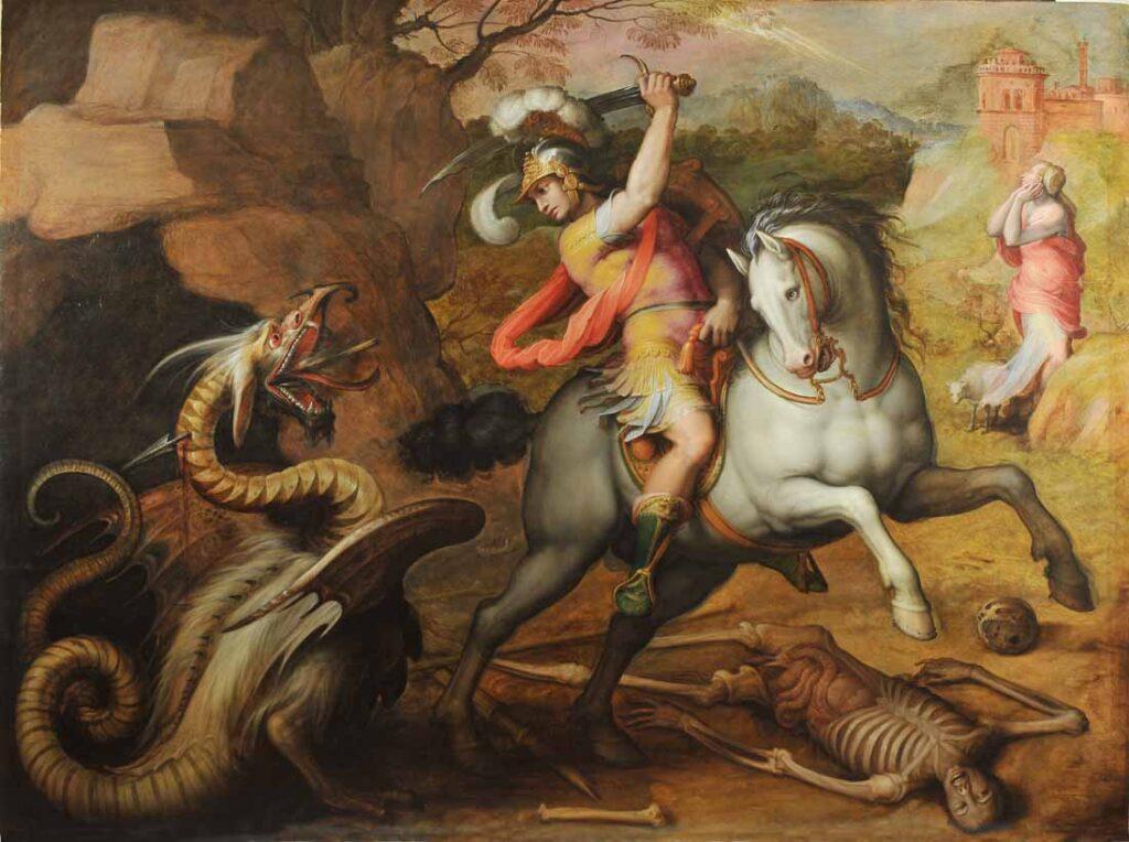 Giovanni Stradano, San Giorgio e il drago, 1563