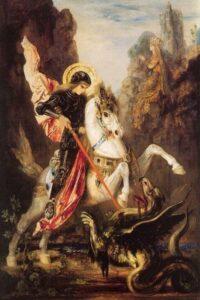 Gustave Moreau, San Giorgio e il drago, 1890