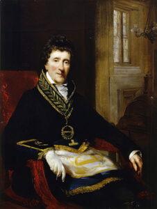 John Jackson, Ritratto di John Soane con l'abito da massone, 1828-1829